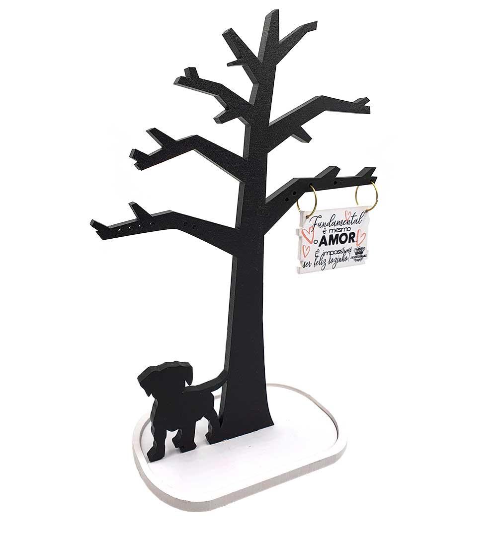 Suporte Para Biju Árvore Arabesco... Cachorro