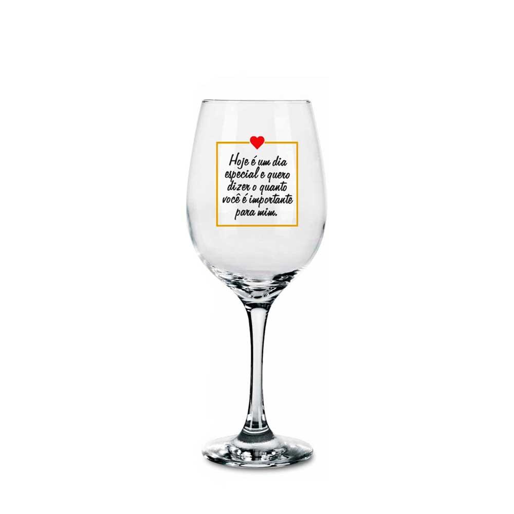 Taça de Vinho - Meu Amor Dia Especial