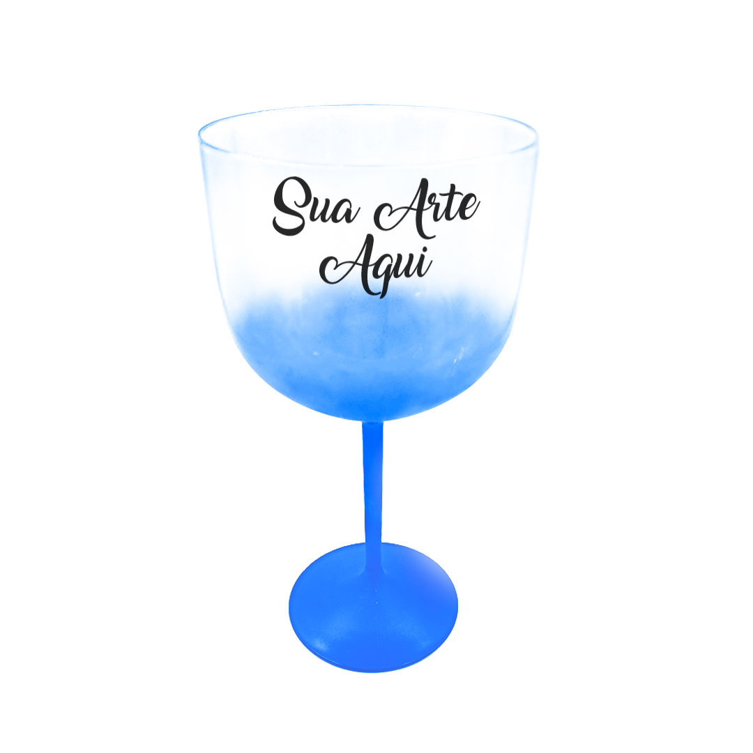 Taça Gin - Azul  Degradê Cristal Personalizada