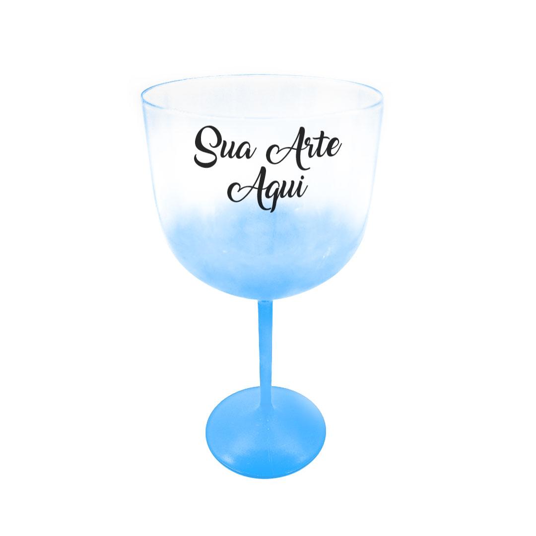 Taça Gin - Azul Perolado Degradê Personalizada