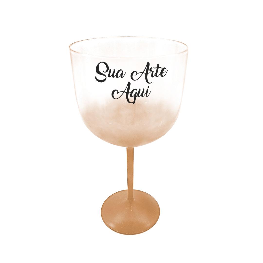 Taça Gin - Dourada Degradê Cristal Personalizada