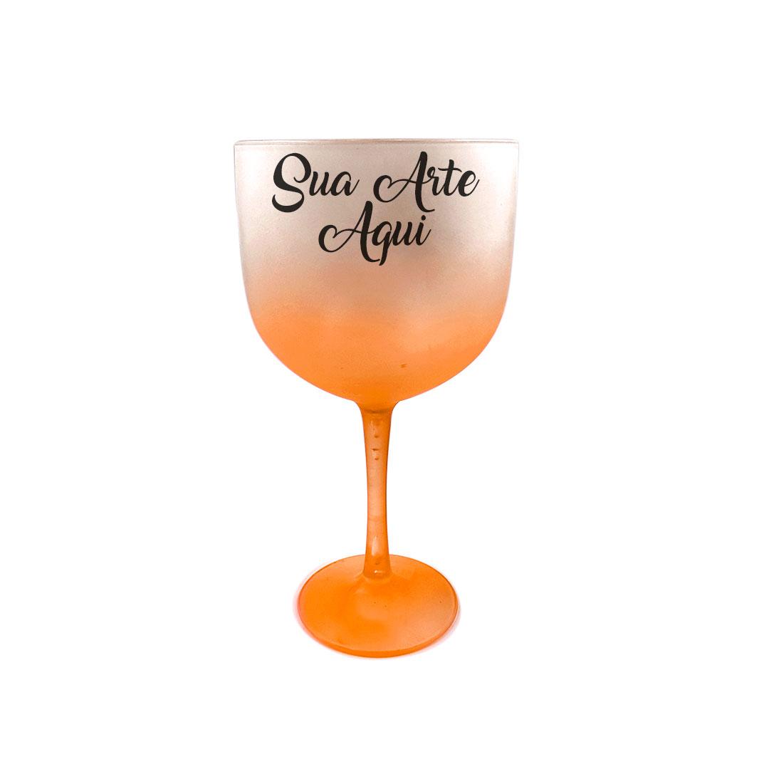 Taça Gin - Laranja Degradê Personalizada