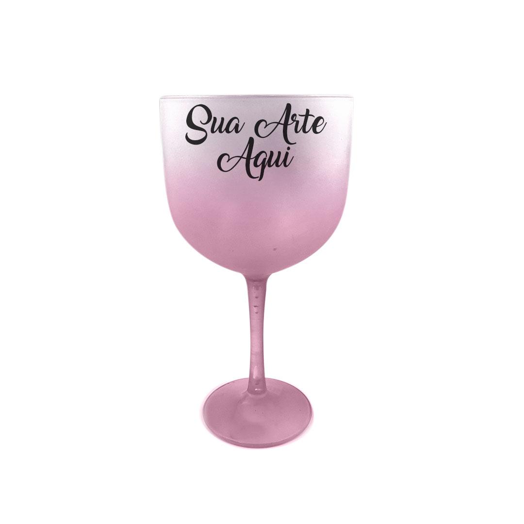 Taça Gin - Rose Degradê Personalizada