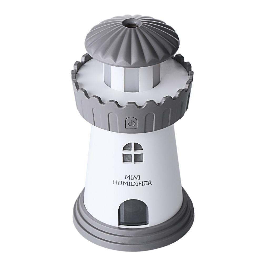 Umidificador e Difusor de Ar Torre Cinza