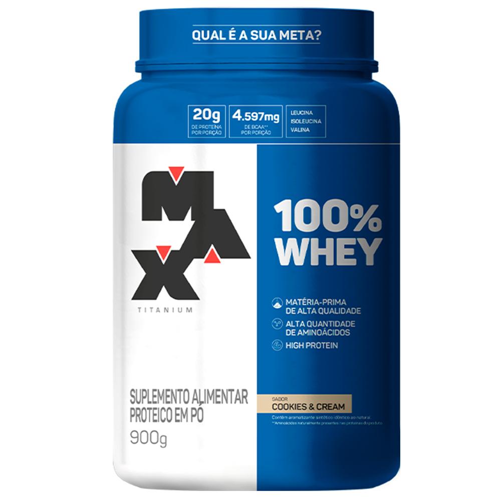 Whey Concentrado 100%  900gr Max Titanium