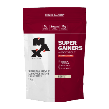 Hipercalórico Super Gainers - 3KG - Max Titanium