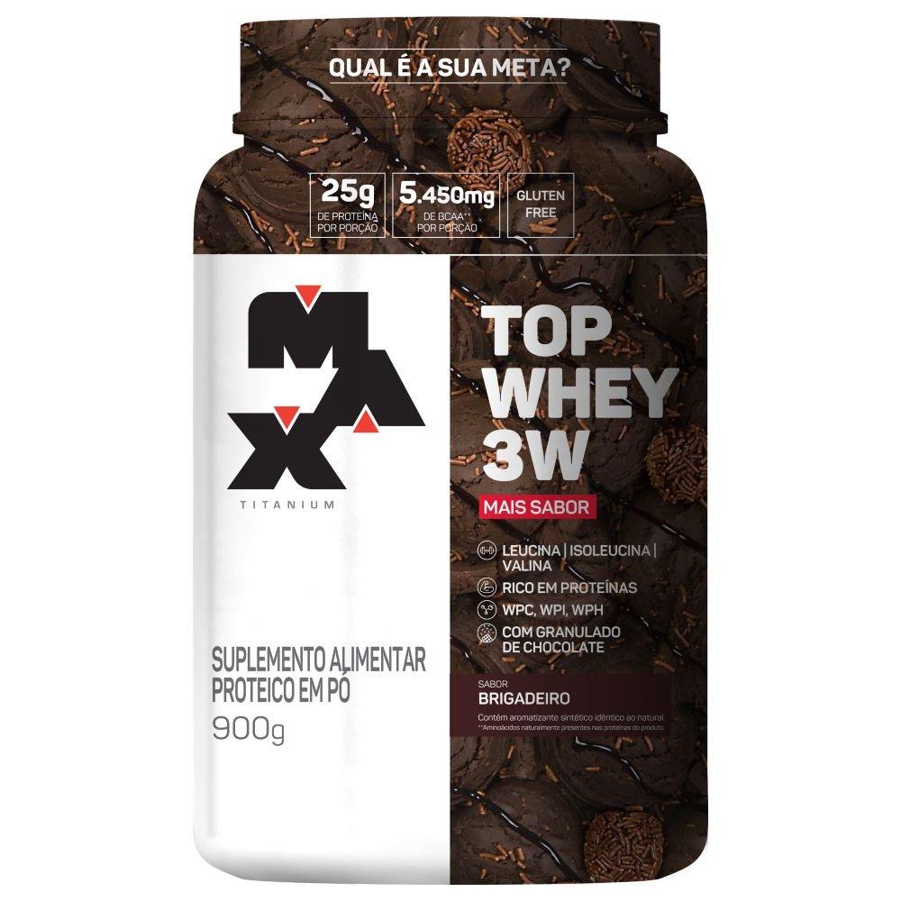 Top Whey 3W Mais Sabor 900g - 25g de Proteína