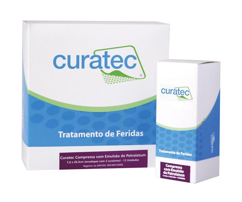 Curatec Compressa com Emulsão de Petrolatum 7,6 cm x 20,3 cm (envelope com 3 unidades)