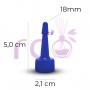 Bico Aplicador 18mm Azul Bic