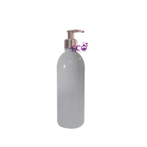 Frasco Pet 500ml Caçula Branco C/ Válvula Pump Cromado