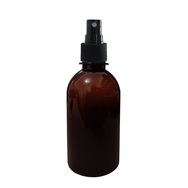Frasco Pet 250ml Oca Âmbar C/ Válvula Spray