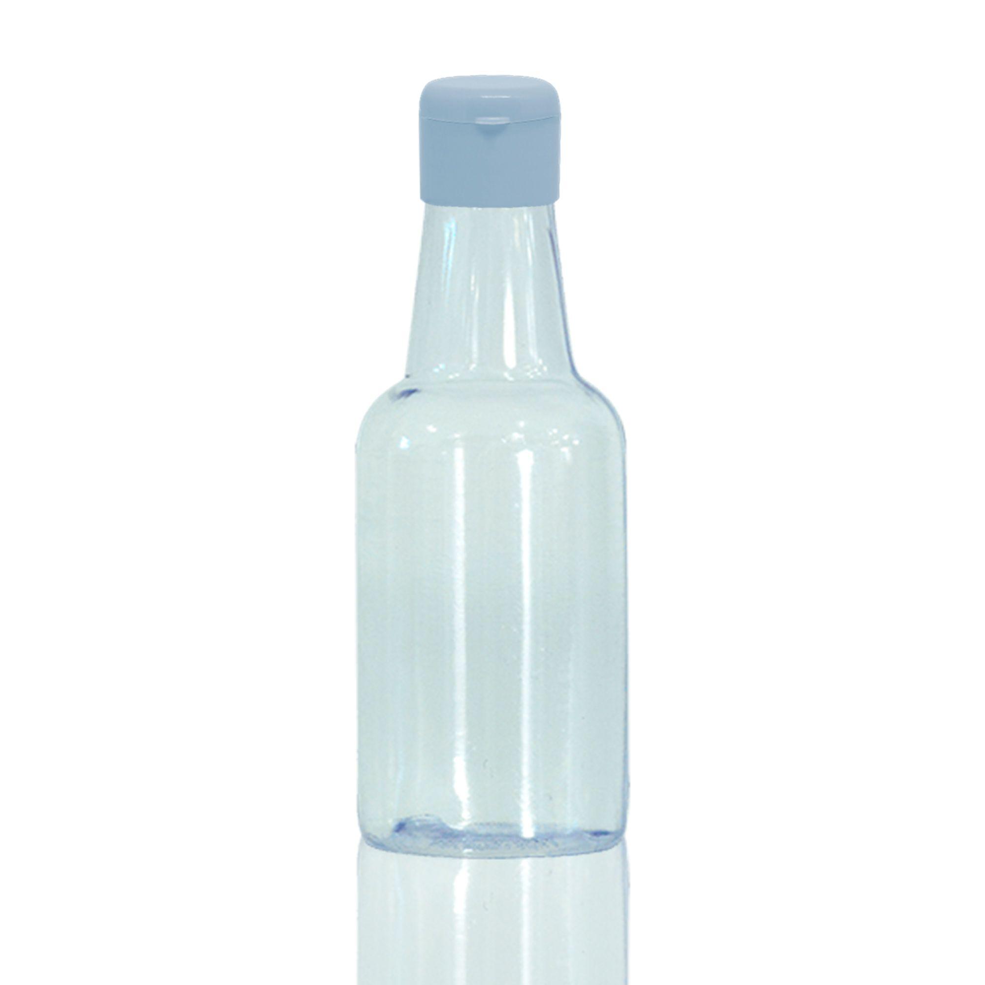 Frasco PVC 50ml Garrafinha C/ Tp. Flip Top