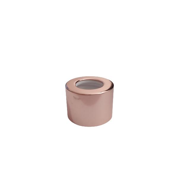 Tampa Difusora Luxo 18/410 Cromada Rosé