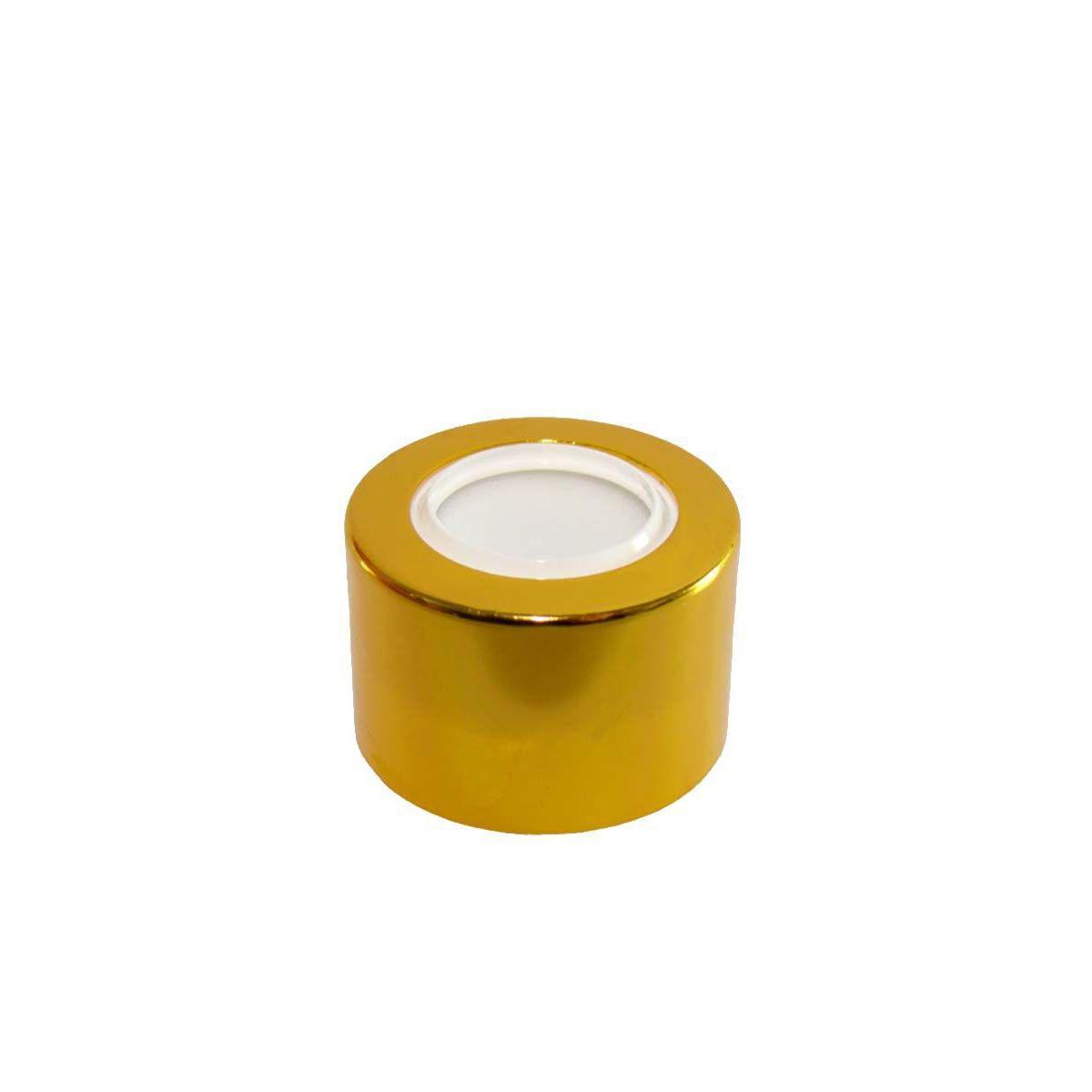 Tampa Difusora Luxo 28/410 Cromada Dourada