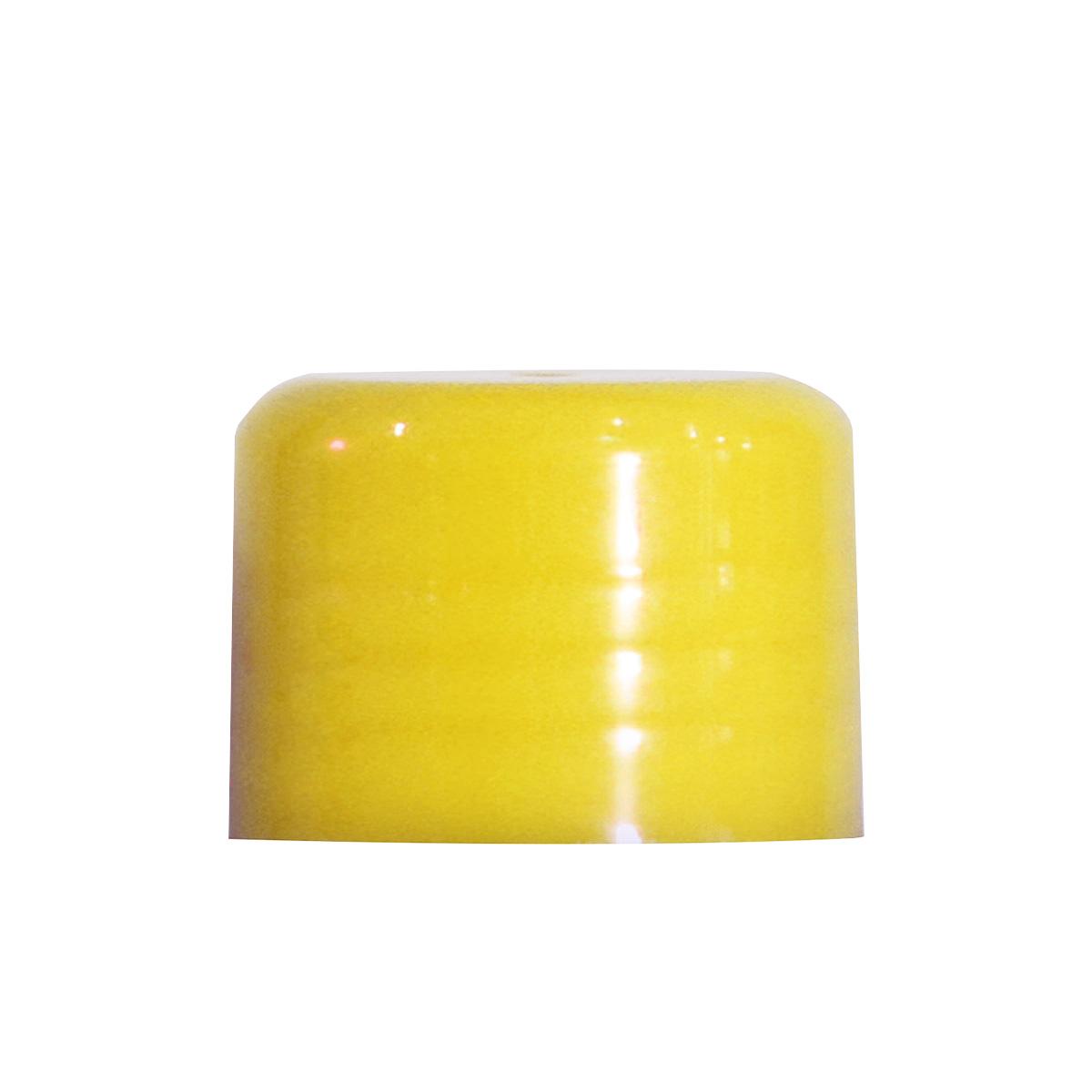 Tampa Plástica Lisa Rosca 18 Amarela
