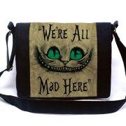 Bolsa Mensageiro Gato de Cheshire (Gato Alice)