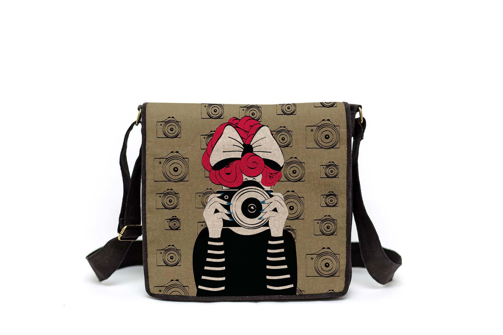 Bolsa Capanga Com Tampa A Garota E A Câmera