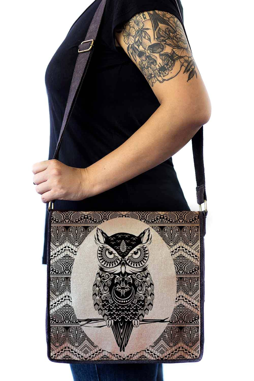 Bolsa Capanga Com Tampa Coruja Maori