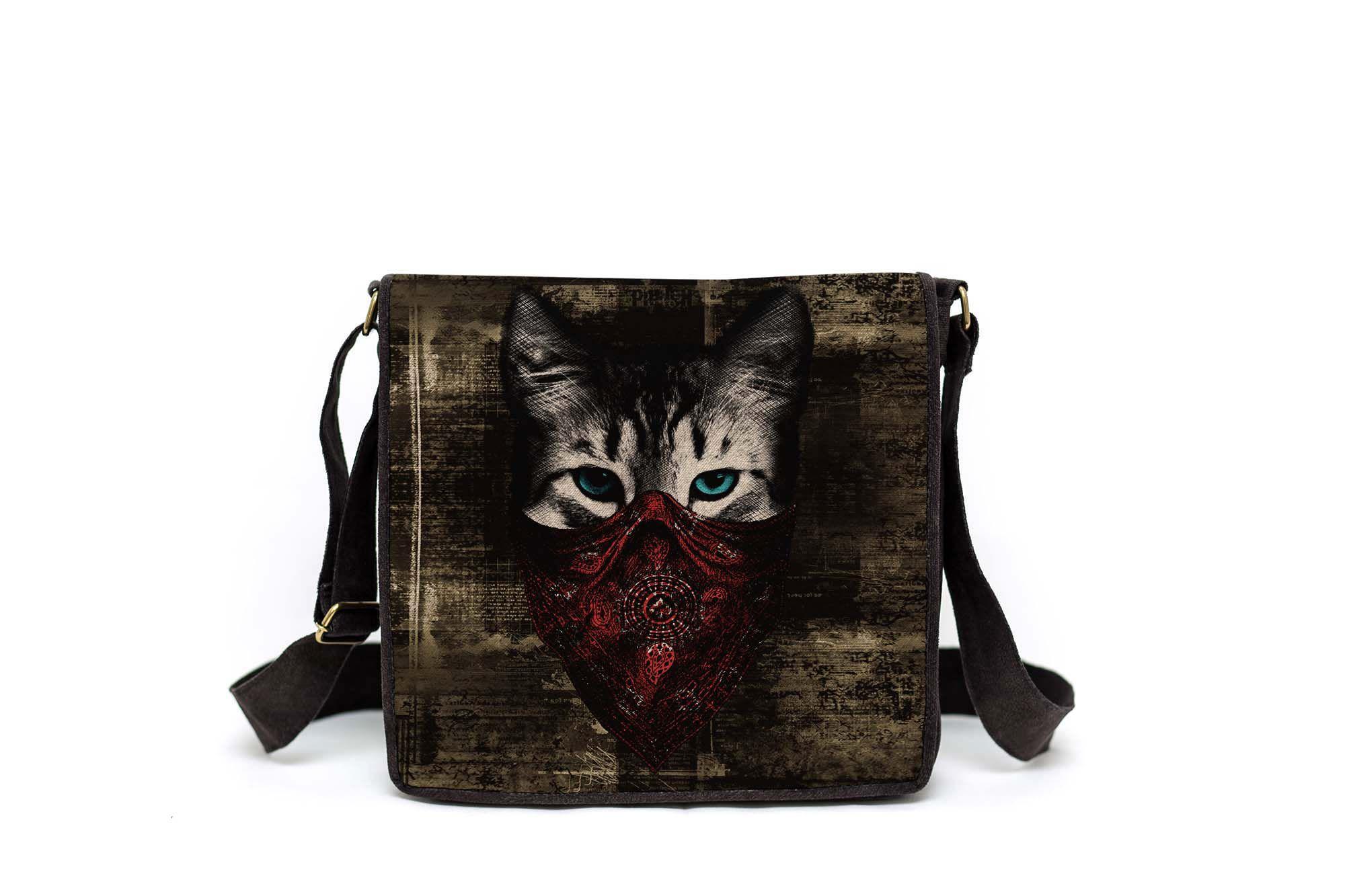Bolsa Capanga Com Tampa Gato Bandido