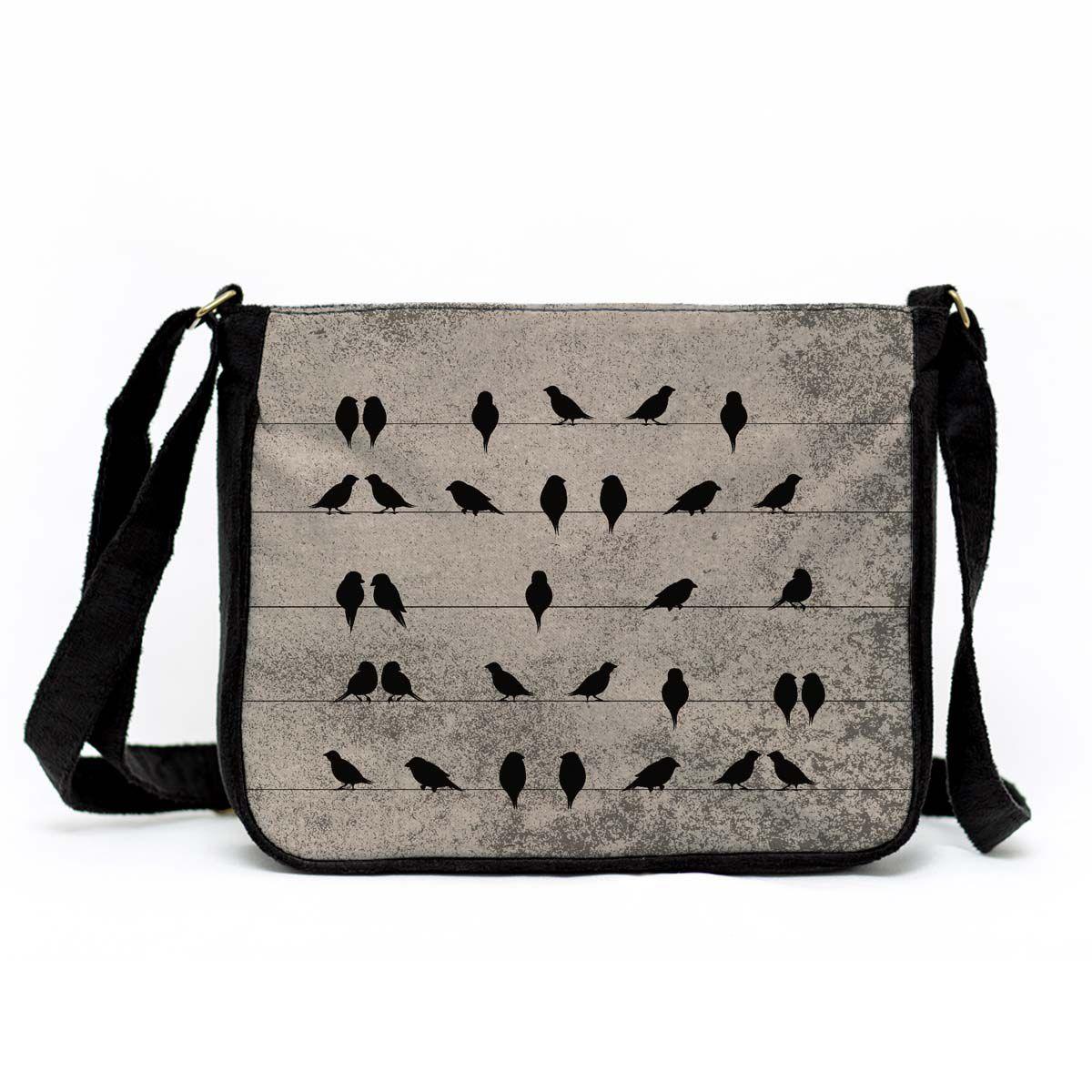 Bolsa Capanga Pássaros No Fio
