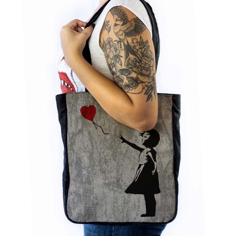 Bolsa de ombro A Menina e o Balão - Banksy