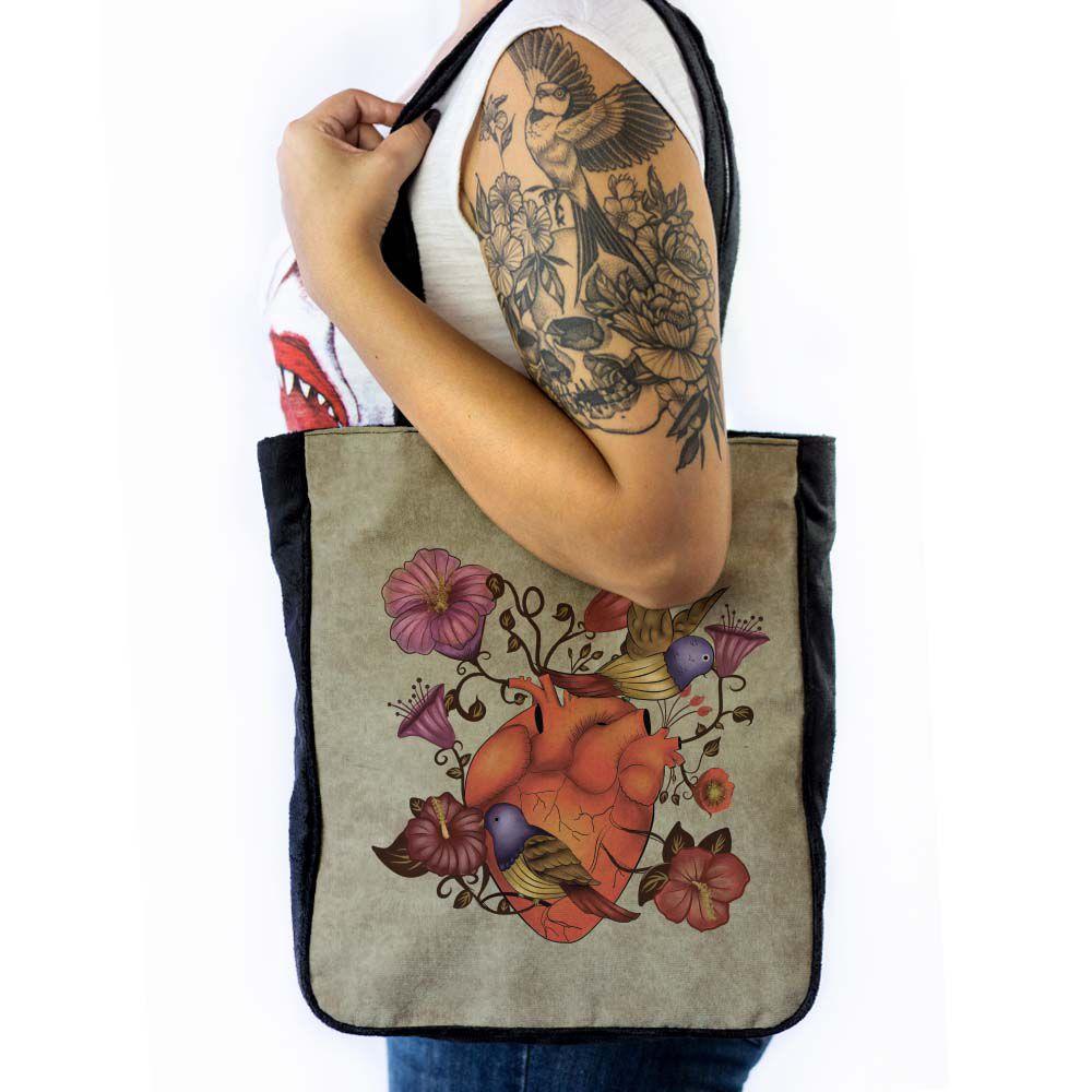 Bolsa de ombro Coração Florido