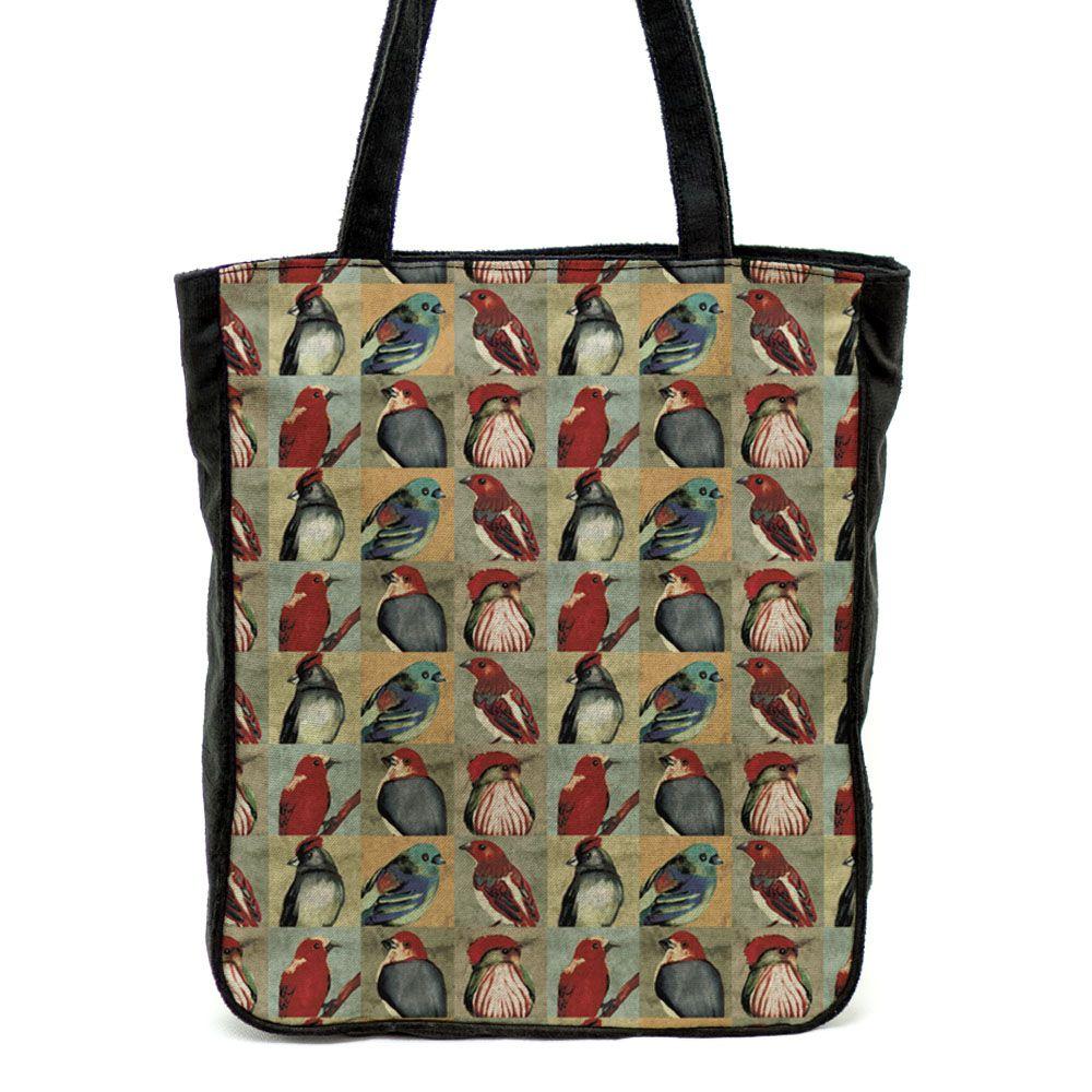 Bolsa de ombro Pássaros Brasileiros - Coloridos