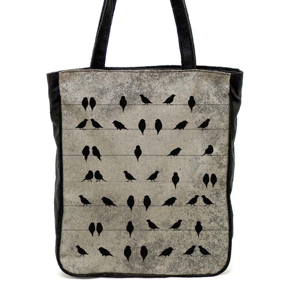 Bolsa de ombro Pássaros no Fio