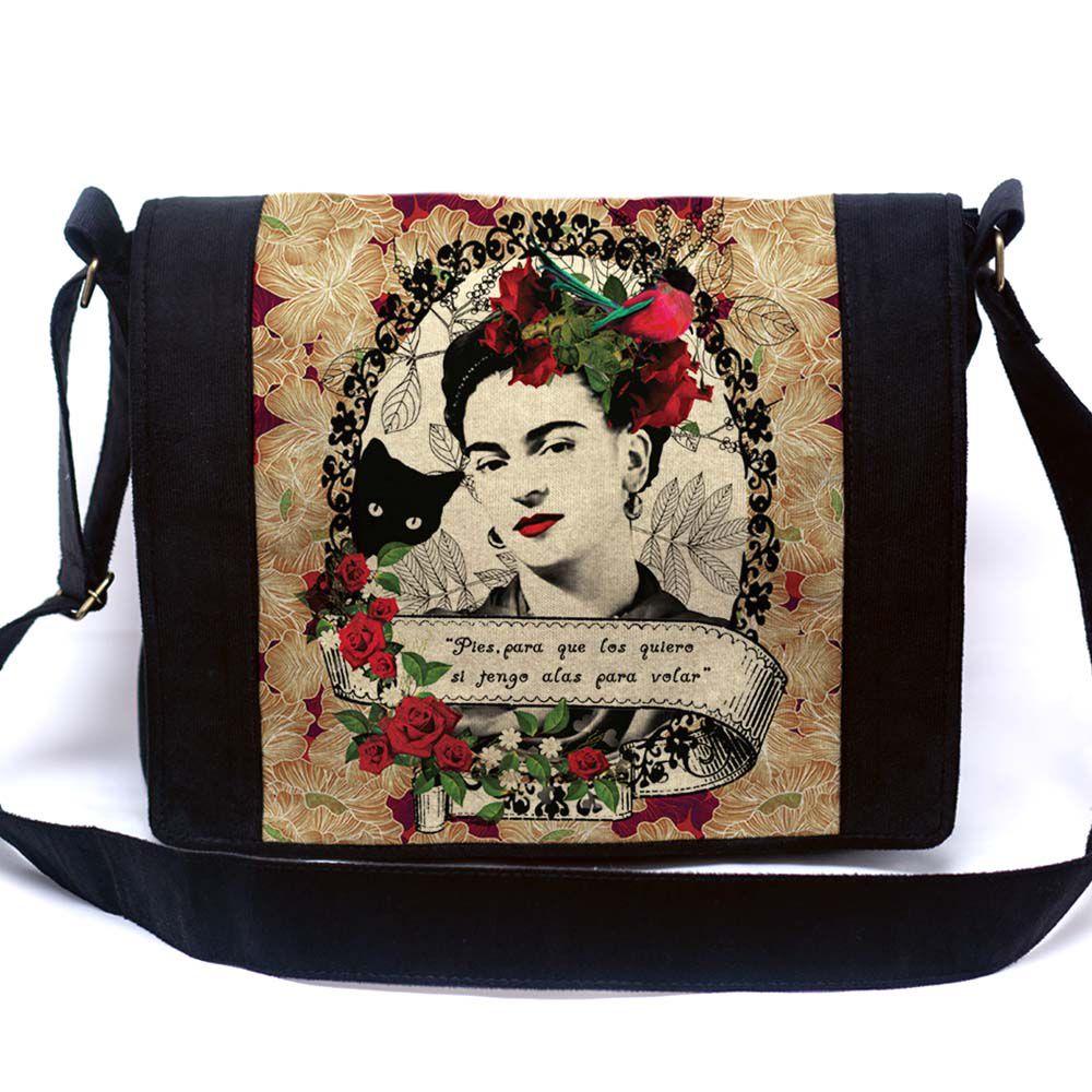 Bolsa Mensageiro Frida Colagem
