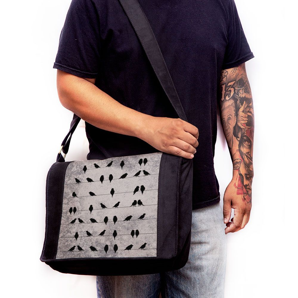 Bolsa Mensageiro Pássaros no Fio