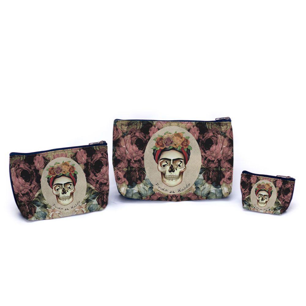 Kit de necessaires Frida Caveira