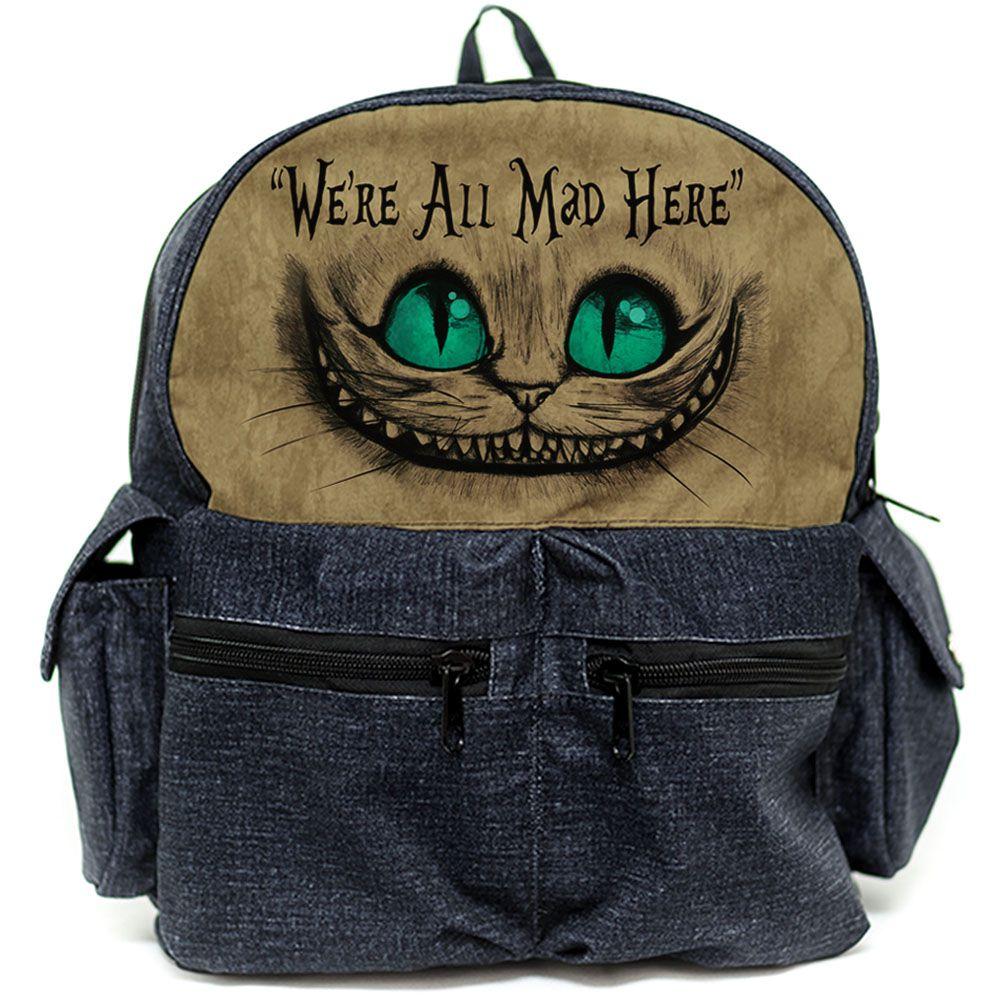 Mochila Gato de Cheshire / Gato Alice / Gato Risonho 01