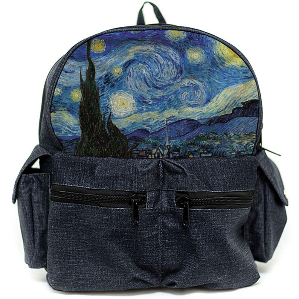 Mochila Van Gogh - A Noite Estrelada