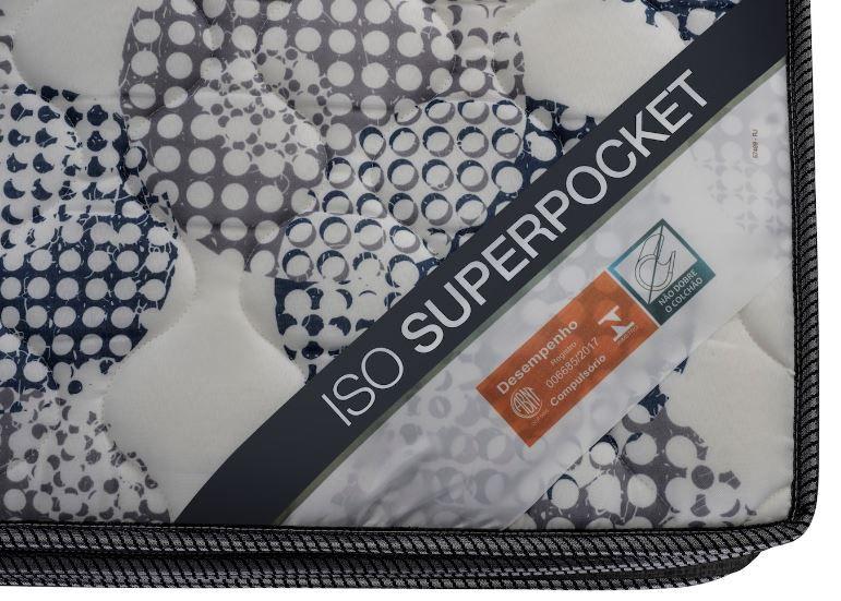 CAMA BOX UNIVERSAL CORINO PRETO + COLCHÃO ORTOBOM ISO SUPERPOCKET SOLTEIRO (25x88x188)