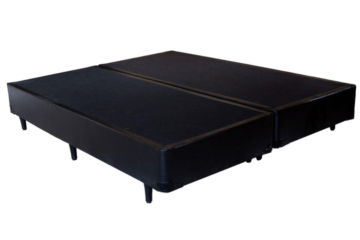 CAMA BOX CORINO PRETO QUEEN (158x198x30cm)