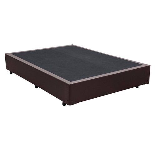 CAMA BOX  CORINO MARROM CASAL (138x188x30cm)