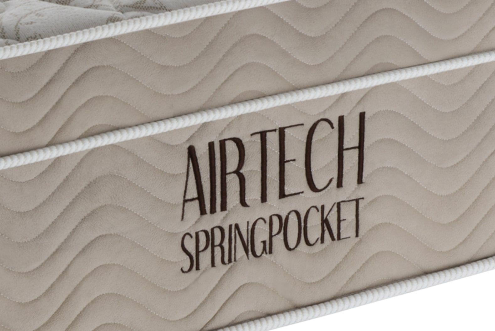 COLCHÃO ORTOBOM AIRTECH SPRING POCKET SOLTEIRO (78x188x30cm)