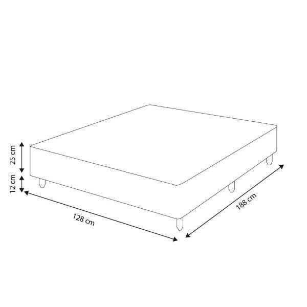 SOMIÊ CAMA BOX RÚSTICA TABACO CASAL
