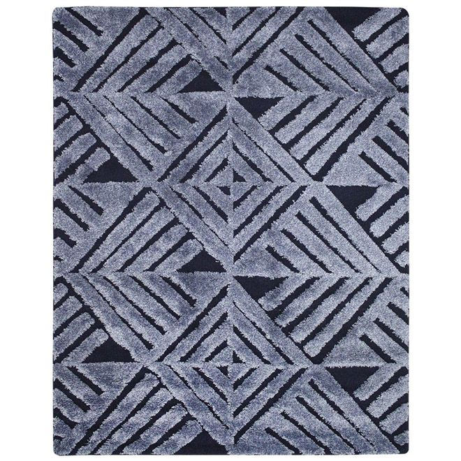 Tapete 3D Verena Geometrico Azul 1,50X2,00m