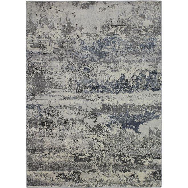 Tapete Abstrato Cinza Lavi - 1,40X1,95m