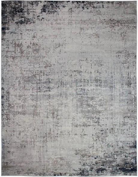 Tapete Abstrato Cinza Seattle Beige Navy 2,00X2,50m
