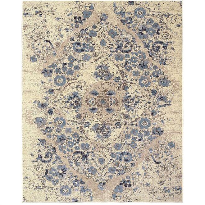 Tapete Abstrato Oriental Vintage 3,00X4,00m