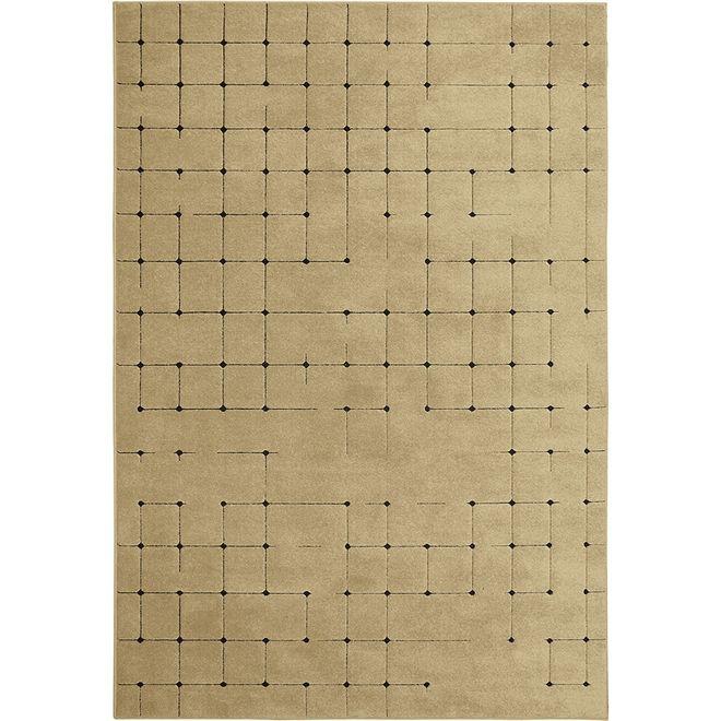 Tapete Antiácaro Geométrico Bege Sofistik Chique 2,00X2,50m