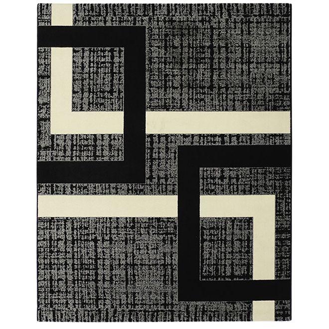 Tapete Antiácaro Geométrico Preto Classe A Black 2,00X2,50m