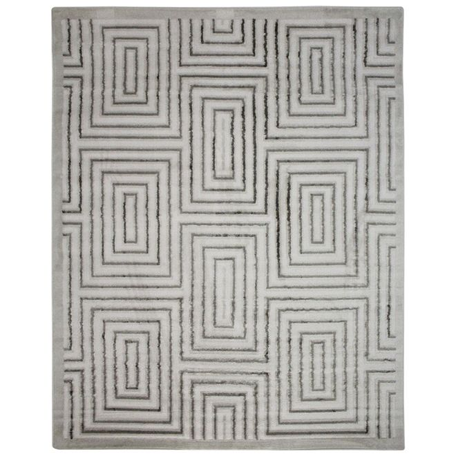 Tapete Branco Geométrico Manara 2,00X2,50m