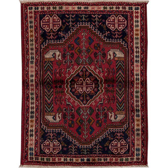 Tapete Clássico Exclusivo Persa Shiraz 1,05X1,40m