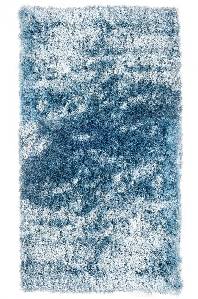 Tapete Fashion Silk Shaggy 40MM Azul Claro 0,90X1,40m