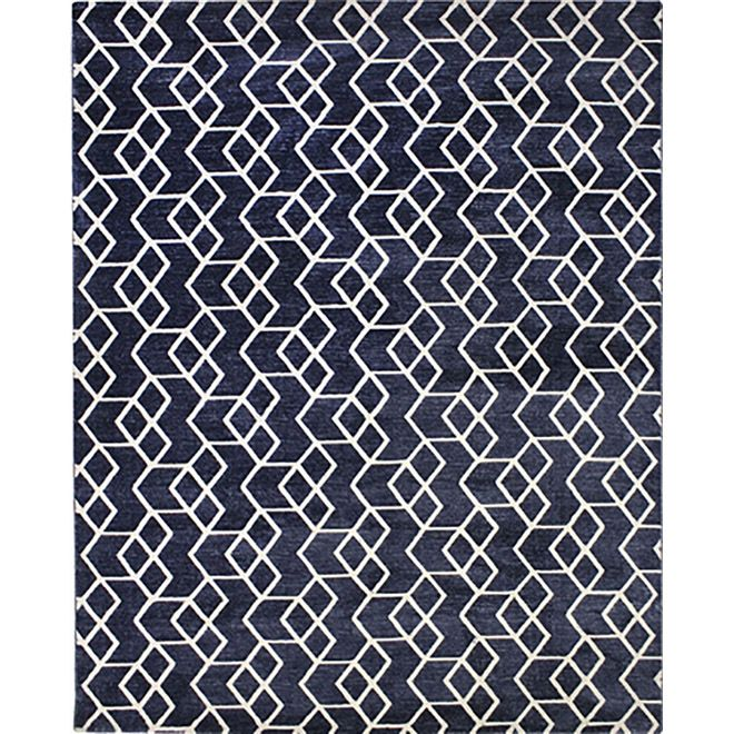 Tapete Geométrico Azul Umay - 0,50X1,00m