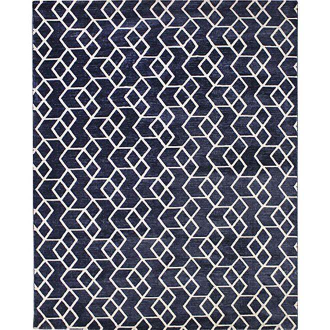 Tapete Geométrico Azul Umay 2,00X3,00m