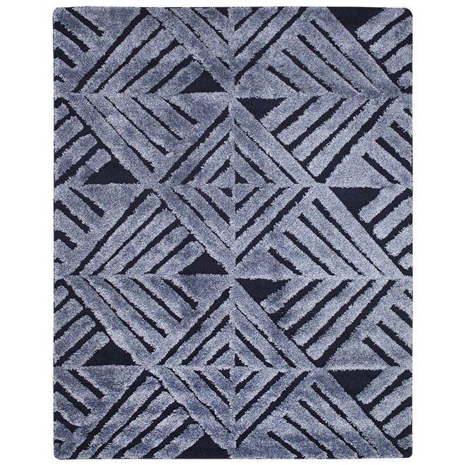 Tapete Geométrico Azul Verena 3D 2,00X2,50m